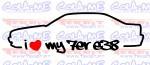Imagens Autocolante - I Love my 7er e38