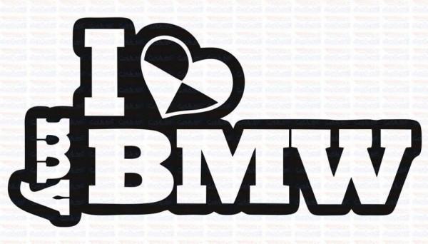 Imagens Autocolante - I Love My BMW