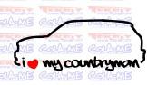 Autocolante - I Love my Countryman