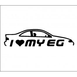 Autocolante -I Love my EG Coupe