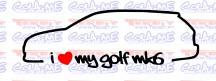 Imagens Autocolante - I Love My Golf mk6