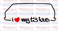 Imagens Autocolante - I Love my t3 lous