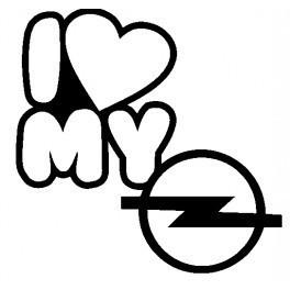 Imagens Autocolante - I Love Opel