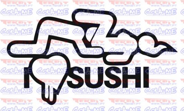 Autocolante - I Love Sushi