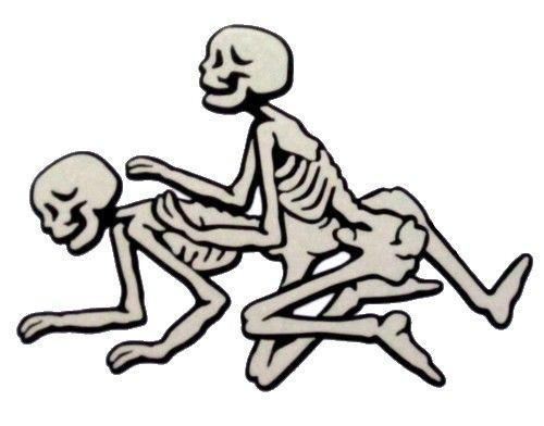 Imagens Autocolante Impresso - Esqueletos Sexo