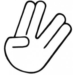 Autocolante - Mão 3
