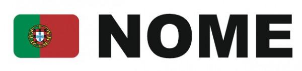 Autocolante personalizado - Bandeira + Nome / Frase