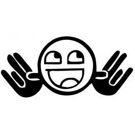 Autocolante - Smile Mãos