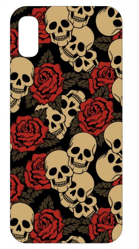 Imagens Capa de telemóvel com Caveiras e Rosas