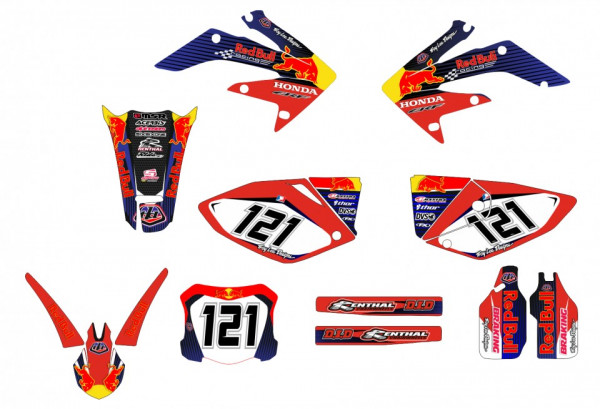 Kit Autocolantes Para Honda CRF 250x 04-13
