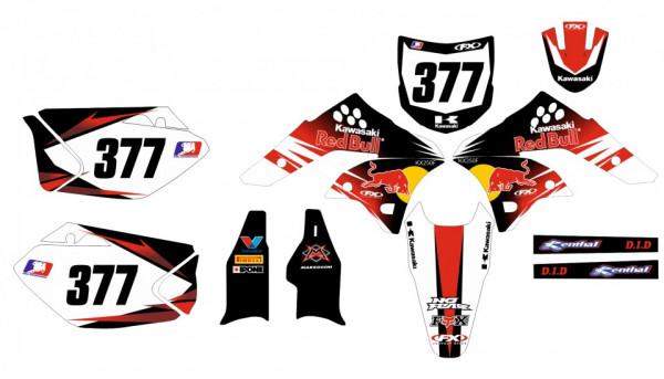 Imagens Kit Autocolantes Para  Kawasaki KXF 250  09-12