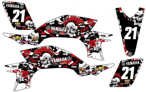 Imagens Kit Autocolantes Para Yamaha YFZ 450