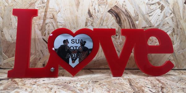 Imagens Moldura em acrílico - Love - com foto