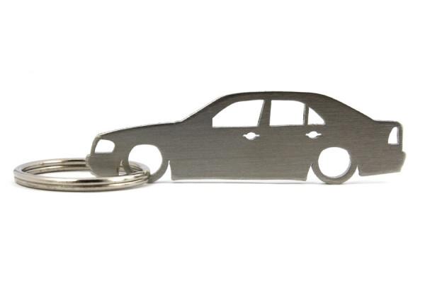 Porta Chaves em inox com silhueta com Mercedes C W202 limousine