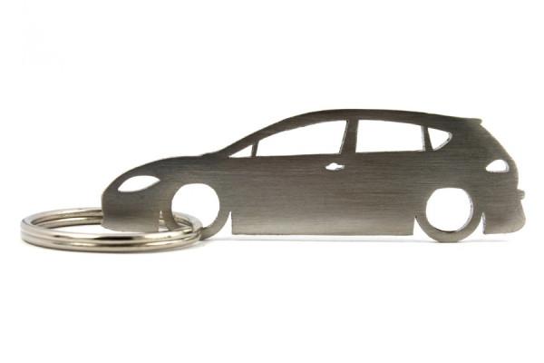 Porta Chaves em inox com silhueta com Seat Leon 1P 5P