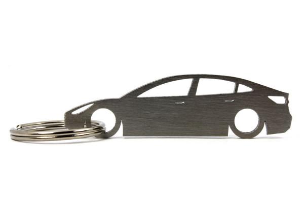 Porta Chaves em inox com silhueta com Tesla Model 3