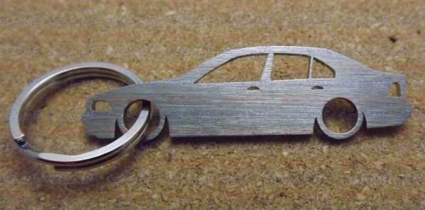 Porta Chaves em inox com silhueta da Bmw E39 4 Portas