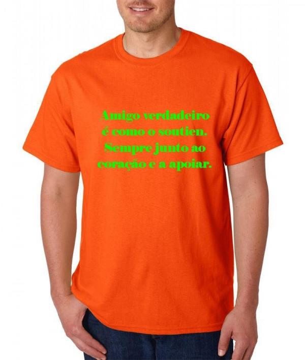 Imagens T-shirt  - Amigo verdadeiro é como sutien. Sempre junto ao coração e  a apoiar