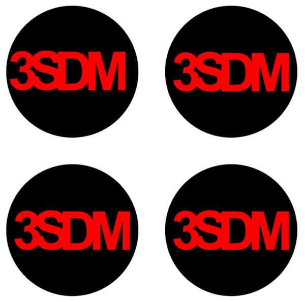 4 Autocolantes Para Centros de Jantes para 3SDM