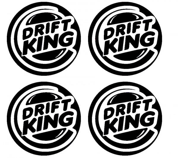 4 Autocolantes Para Centros de Jantes para Drift King