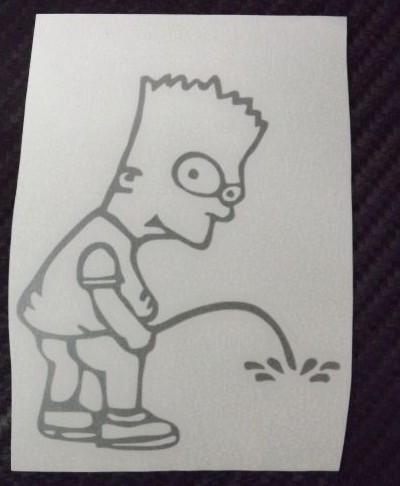 Autocolante - Bart Simpson Mijão