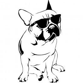 Autocolante - Cão com Estilo