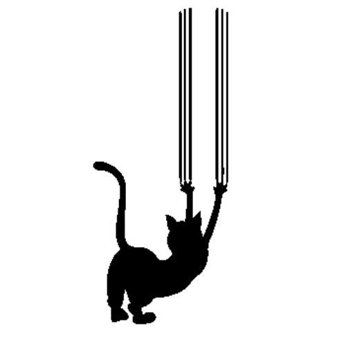 Autocolante - Gato a Arranhar
