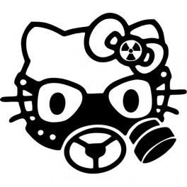 Autocolante - Hello Kitty Mascara de Gás
