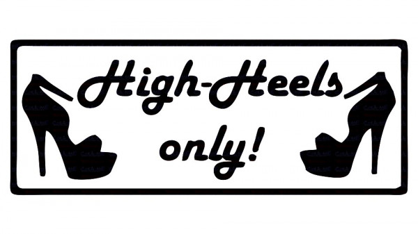 Imagens Autocolante - High heels only!