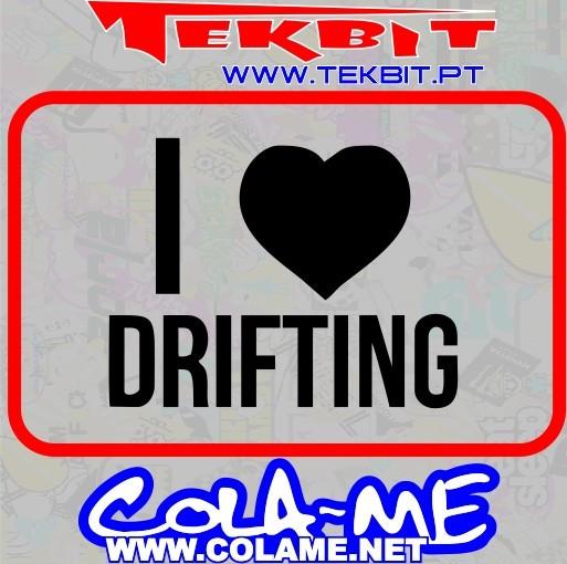 Imagens Autocolante - I Love Drifting