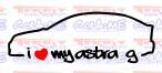 Autocolante - I Love my Astra G