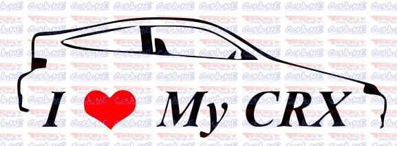 Imagens Autocolante - I Love My CRX