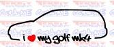 Imagens Autocolante - I Love my Golf mk4 variant