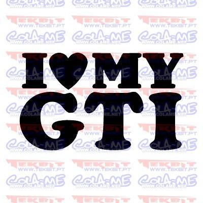 Autocolante - I love My GTI