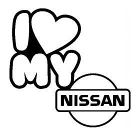 Autocolante - I Love My Nissan
