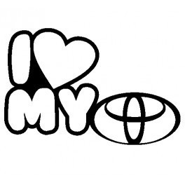 Autocolante - I Love Toyota