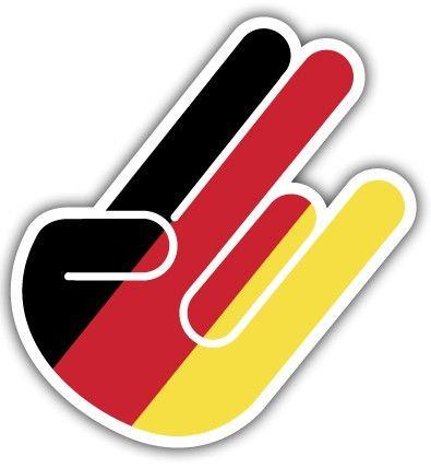 Imagens Autocolante Impresso -Shocker- Mão JDM German Style