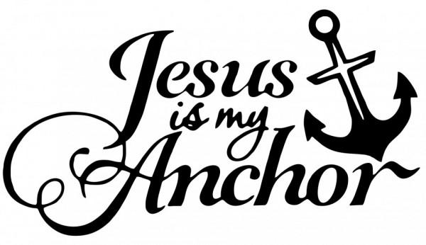 Imagens Autocolante  - Jesus my anchor