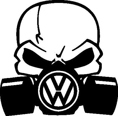 Autocolante - Máscara  de Gás VOLKSWAGEN