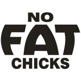 Autocolante - No Fat Chics