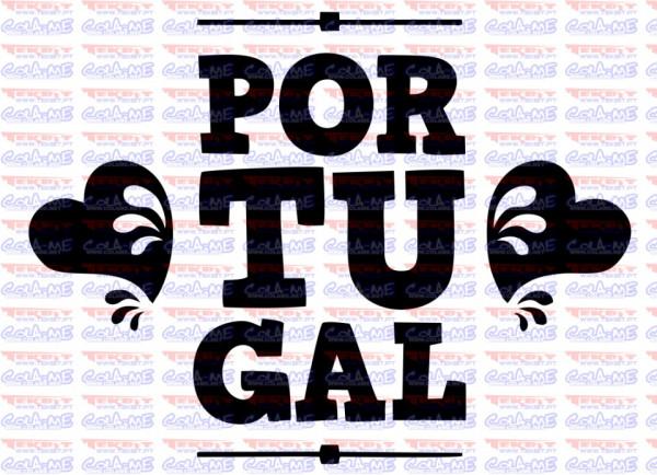 Autocolante - Portugal Coração