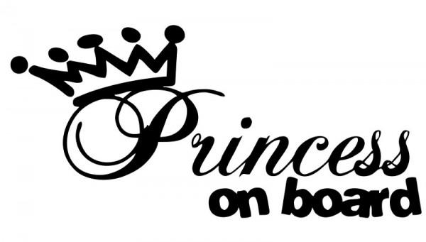 Autocolante - Princess on Board 2