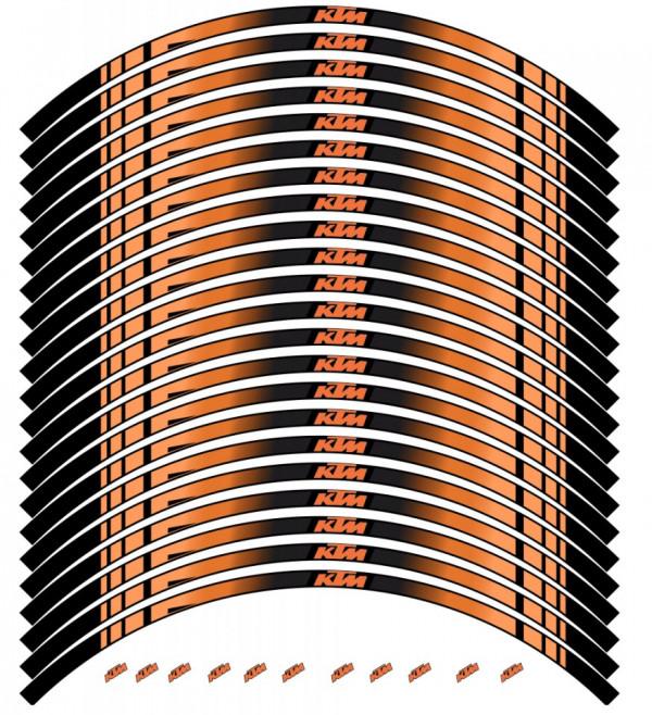 Conjunto de faixas para Jantes com  KTM