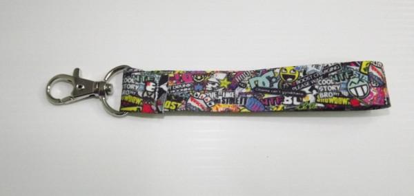 Fita Porta Chaves com Sticker Bomb Padrão 2