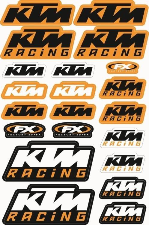 Folha / Pack de Autocolantes - KTM