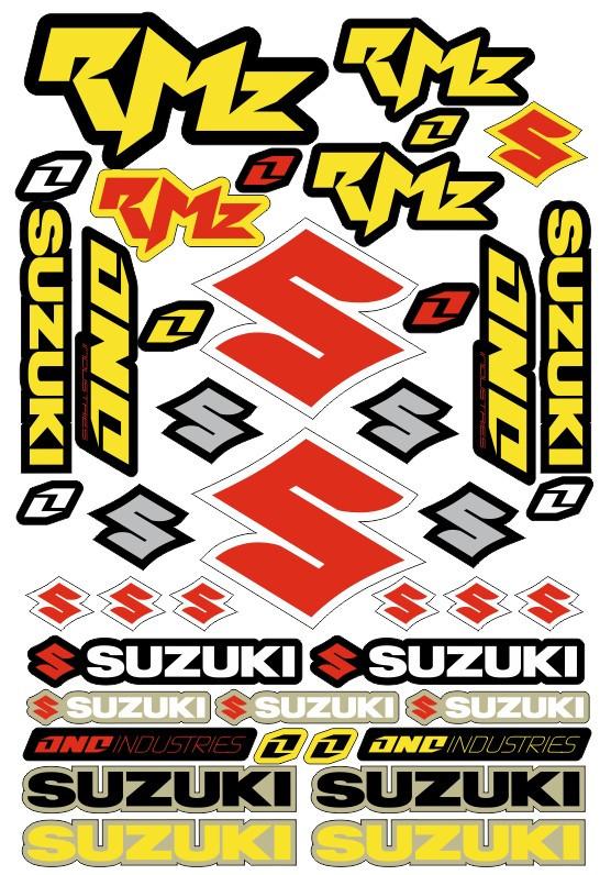 Imagens Folha / Pack de Autocolantes - Suzuki