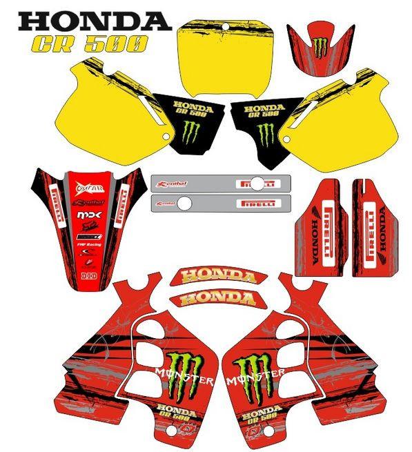 Imagens Kit Autocolantes Para HONDA CR 500