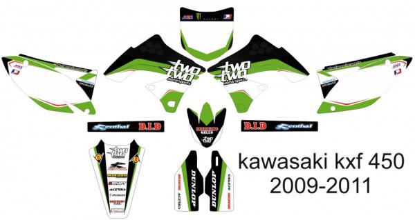 Imagens Kit Autocolantes Para kawasaki KXF 450 09-11