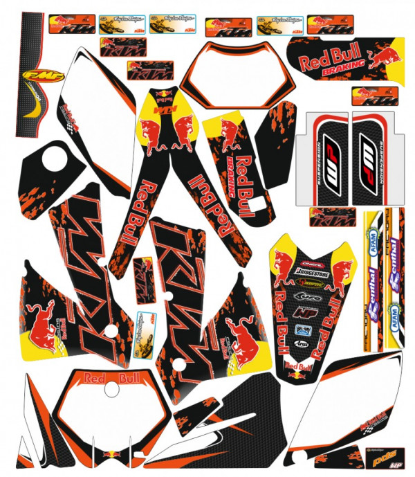 Kit Autocolantes Para KTM EXC XC XCF 04-07