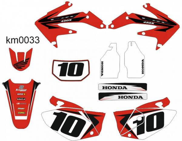 Imagens Kit Autocolantes Para Moto - Honda CRF 450x - 04-16